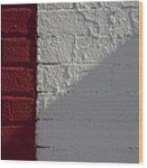 Red Brick White Brick Wood Print by Robert Ullmann