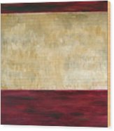 Red Brown And Beige Color Study Wood Print