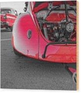 Red Bug Wood Print