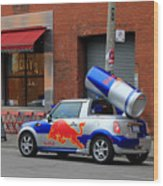 Red Bull Car Wood Print