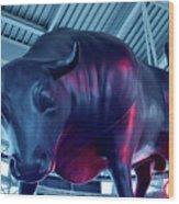 Red Bulls Wood Print