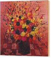 Red Bunch Wood Print