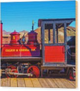 Red Calico Odessa Rr Wood Print