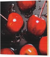Red Candy Apples Or Apple Taffy Wood Print