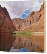 Red Canyon Reflections Wood Print