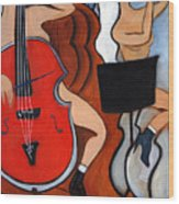 Red Cello 2 Wood Print