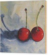 Red Cherries Wood Print