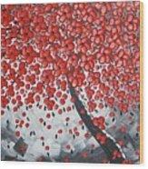 Red Cherry Tree Wood Print
