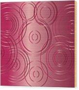 Red Circle Background Wood Print