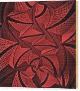 Red City 3 Wood Print