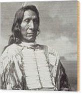 Red Cloud Chief Wood Print