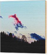 Red Cloud Wood Print