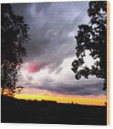 Red Cloud, Pittsburgh, Pa  Wood Print