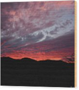 Red Cloud Sunset Wood Print