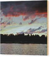 Red Clouds Wood Print
