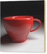 Red Coffee Cup Wood Print