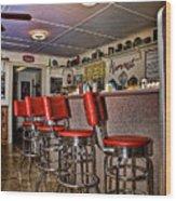 Red Cottage Restaurant Wood Print