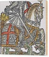 Red Cross Knight, 1598 Wood Print