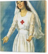 Red Cross Nurse - Ww1 Wood Print