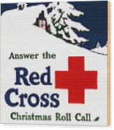 Red Cross Poster, C1915 Wood Print