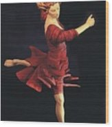 Red Dancer Front View Wood Print