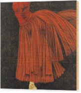 Red Dancer Wood Print