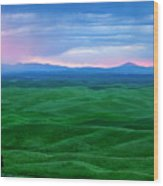Red Dawn Over The Palouse Wood Print