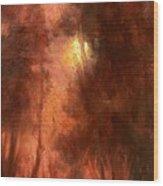 Red Dawn Ridgefield Refuge Wood Print