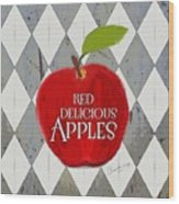 Red Delicious Apples Wood Print