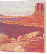 Red Desert Wood Print