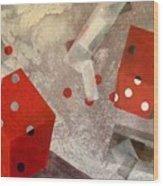 Red Dice Wood Print