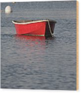 Red Dingy - Rye Harbor New Hampshire Usa Wood Print