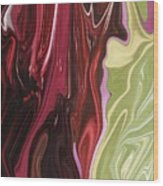 Red Divide Wood Print