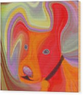 Red Dog Wood Print