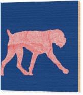Red Dog Tee Wood Print
