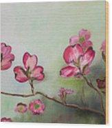 Red Dogwood - Cherokee - Springtime Wood Print