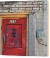 Red Door 325  Wood Print