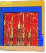 Red Door By Darian Day Wood Print