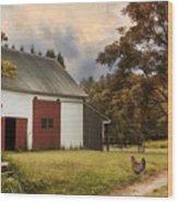 Red Door Farm Wood Print