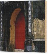 Red Doorway Wood Print