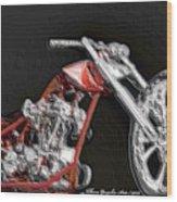 Red Embossed Custom Wood Print
