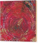 Red Energy Wood Print
