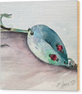 Red-eyed Wiggler Wood Print