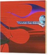 Red F-100 Wood Print