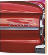 Red Falcon Wood Print
