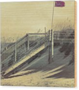 Red Flag Day Wood Print