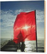 Red Flag Warning Sunrise 3 9/30 Wood Print