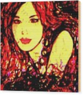 Red Flirt Wood Print
