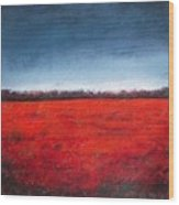 Red Flowering - Poppies Wood Print