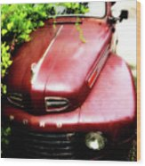 Red Ford Wood Print